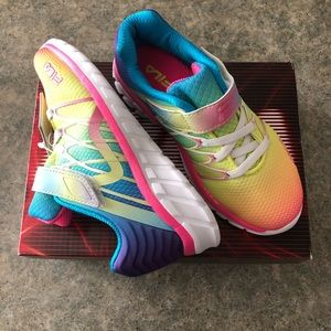 NEW Girls FILA Colorful Sneakers